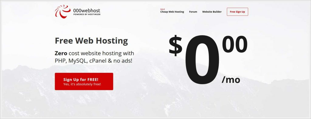 000Webhost.com - free wordpress hosting