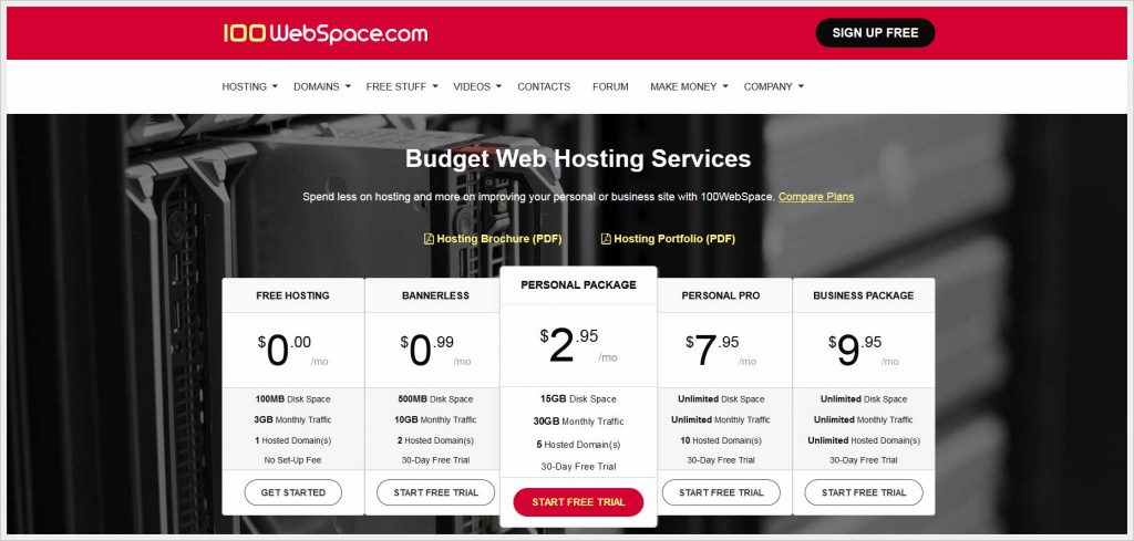 100WebSpace.com - free wordpress hosting