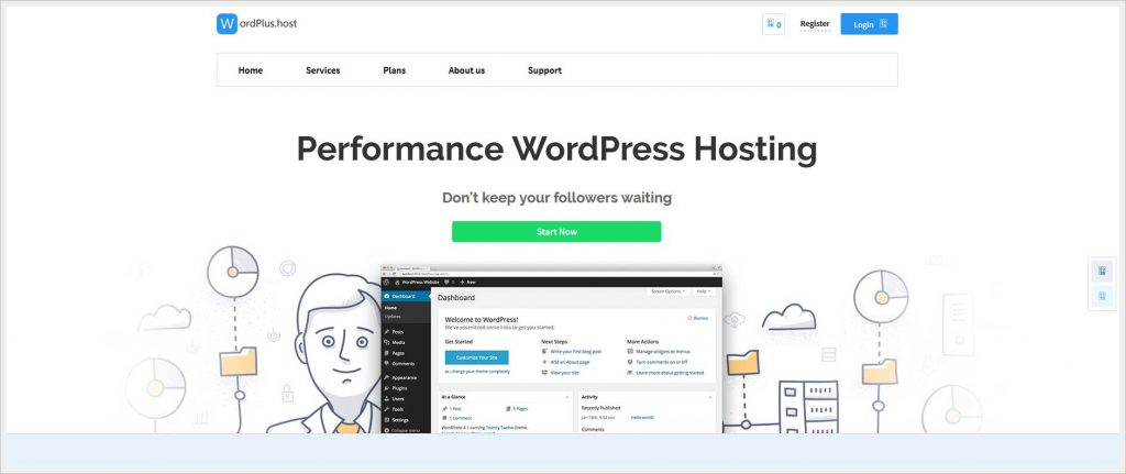 Wordplus.host - free wordpress hosting
